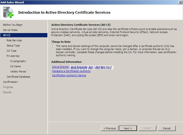 Install and configure microsoft active directory certificate upgrading or migrating active directory certificate services yelopaper Choice Image