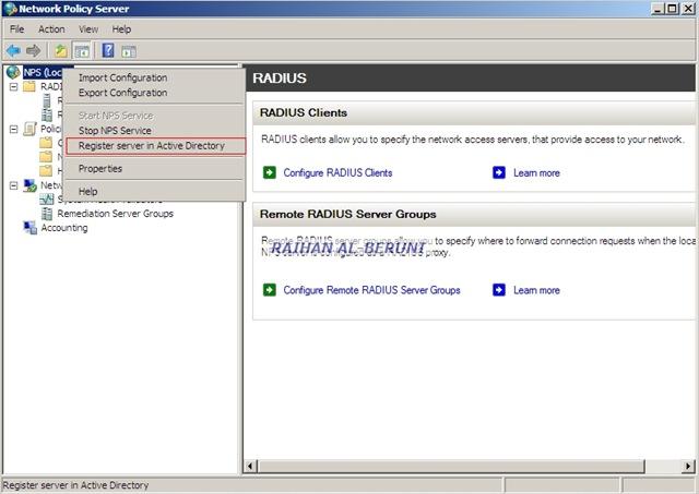 Radius server windows 2008 certificate