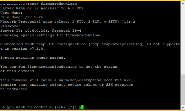 How to upgrade firmware of brocade fabric switch – Blog by Raihan Al